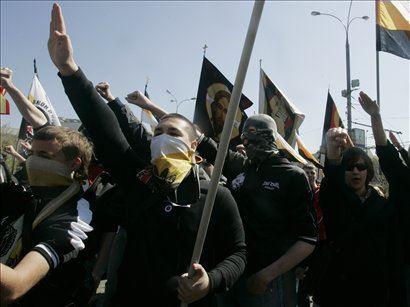 Neonacistični protestniki v Moskvi