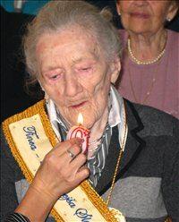 Katarina Marinič ob praznovanju 110. rojstnega dne