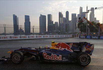 Mark Webber je na prvem treningu postavil najhitrejši čas.