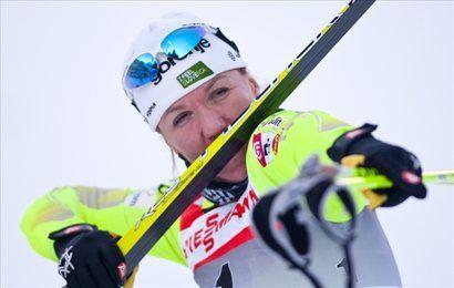 Petra Majdič je bila najhitrejša na vseh štirih tekih na sredinem šprintu v Toblachu.