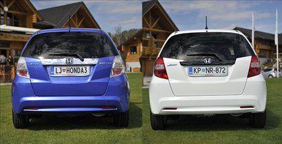 Hibrid (levo) in običajna različica (desno)