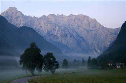 Jutranja spokojnost Logarske doline