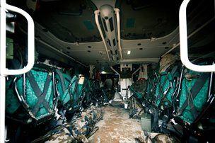 V svarunu bi posadka ostala živa tudi, če pod kolesi raznese do deset kilogramov eksploziva