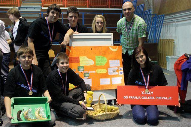 Zaščita banan pred prehitrim zorenjem ekipe X-ray (OŠ Franja Goloba Prevalje) – zmagovalka projekta FLL