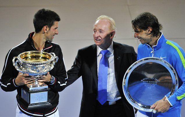 Novak Đoković (levo) je bil spet boljši od Rafaela Nadala.