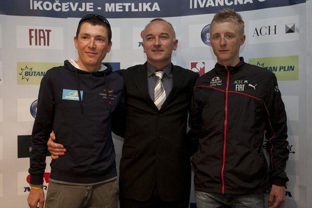 Od leve proti desni: Jani Brajkovič, Bogdan Fink in Marko Kump.