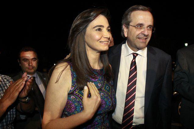 Antonis Samaras z ženo Georgio.