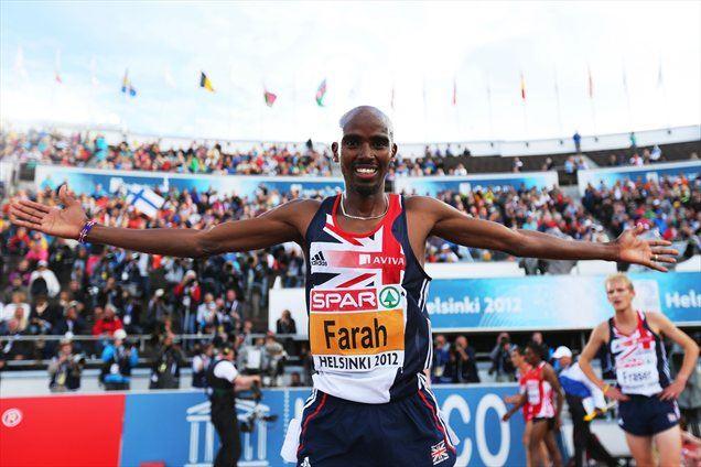 Britanec Mo Farah je pričakovano zmagal v teku na 5000 metrov.