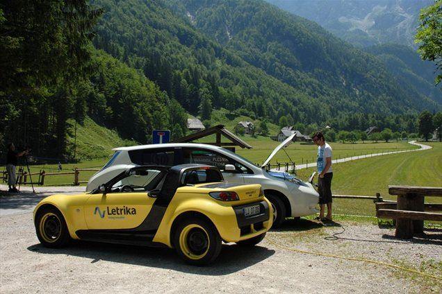Testiranje električnih avtomobilov v Logarski dolini