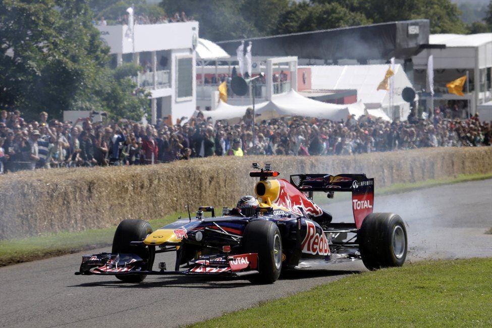 Prejšnji vikend se je svetovni prvak mudil na festivalu hitrosti v Goodwoodu.
