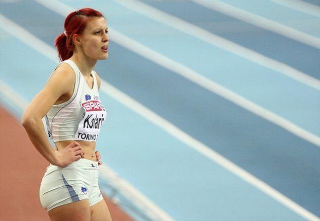 Nina Kolarič bo proti Londonu lahko le pogledovala.