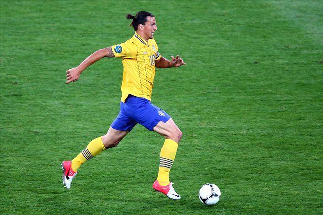 Zlatan Ibrahimović v dresu švedske reprezentance.