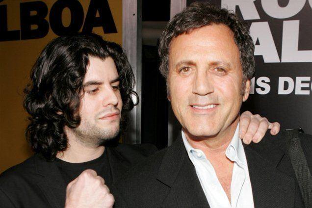 Sage je bil izredno ponosen na svojega očeta (Na fotografiji s Frankom Stallonom).