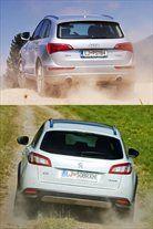 Kateri pogon je torej boljši? Quattro, ker je vseskozi na voljo. Peugeot pri 120 na uro postane povsem običajen karavan s prednjim pogonom.