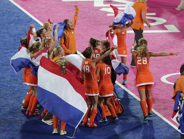 Veselje nizozemskih hokejistk.