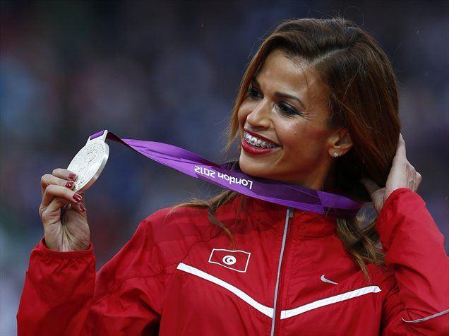 Habiba Ghriba je bila srebrna v teku na 3000 metrov z zaprekami.