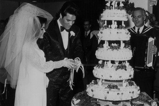 Elvis Presley z ženo Priscillo