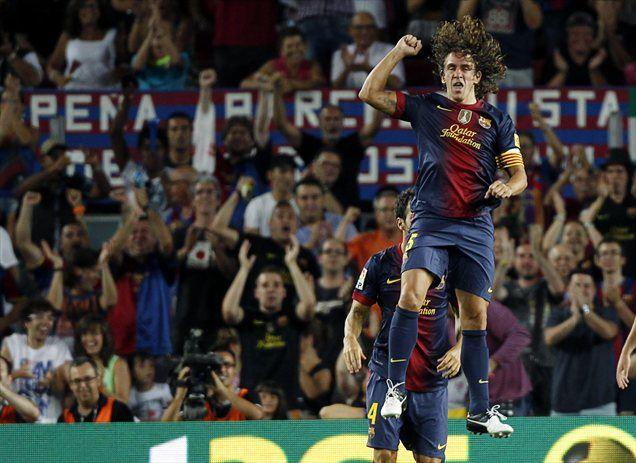 Prvi gol za Barcelono v novi sezoni je zabil povratnik po poškodbi in kapetan Carles Puyol.