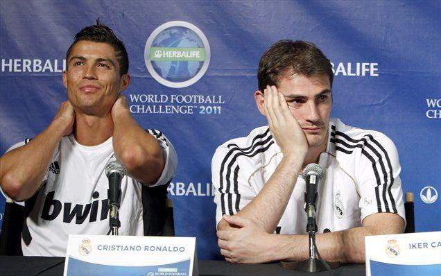 Sta Cristiano Ronaldo (levo) in Iker Casillas (desno) na nasprotnih bregovih?