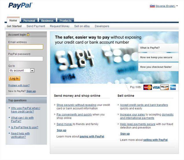 Slovenski uporabniki spletnega plačilnega sistema Paypal lahko storitev od nedavnega uporabljajo tudi brez kreditne kartice.