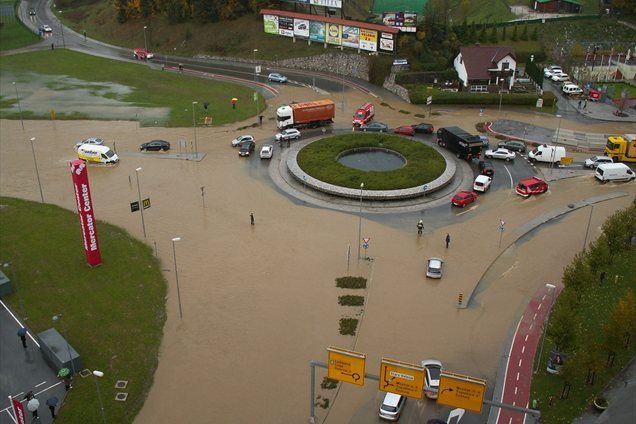 Poplavljeno Velenje, foto: Mirko Močnik