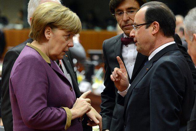 Zagovornica in nasprotnik varčevanja, Angela Merkel in Francois Hollande