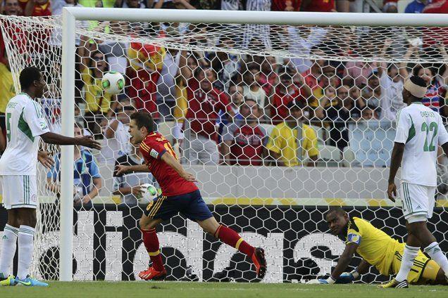Jordi Alba je s prodorom skozi nigerijsko obrambo poskrbel za vodstvo Španije, na tekmi pa je dosegel dva gola.