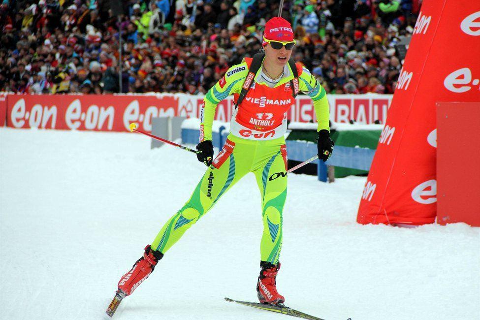 Teja Gregorin je zasledovalno tekmo končala na šestem mestu.