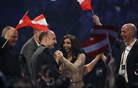 Zmagovalka Evrovizije je bradata Avstrijka, Tinkara predzadnja