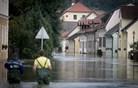 Kostanjevica na Krki pod vodo