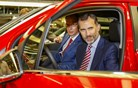 Opel mokko s proizvodne linije v svet pospremil španski kralj