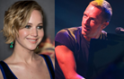 Chris Martin že prepeva Jennifer Lawrence