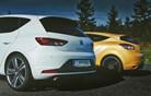 Renault megane R.S. trophy 275 akrapovič in seat leon cupra – elitni dvoboj na slovenskem asfaltu -