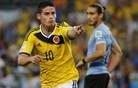 James Rodriguez in Radamel Falcao proti slovenskim branilcem