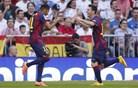 V živo: Ronaldo prekinil nedolžnost Barcelone in izenačil