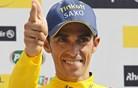Alberto Contador in Peter Sagan pred nenavadnim izzivom