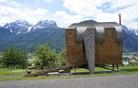 Ptiču podobna počitniška hiša sredi Alp (foto)