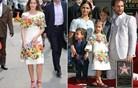 Tridesetletnica in štiriletnica v enakih oblekah