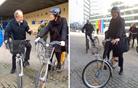 Violeta Bulc v Evropski parlament s kolesom, Igor Šoltes peš (foto)