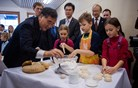 Slovenski zajtrk za visokega kitajskega gosta (foto)