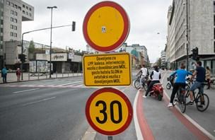 Vpliv zapore Slovenske ceste: promet iz centra na Večno pot in Tivolsko cesto