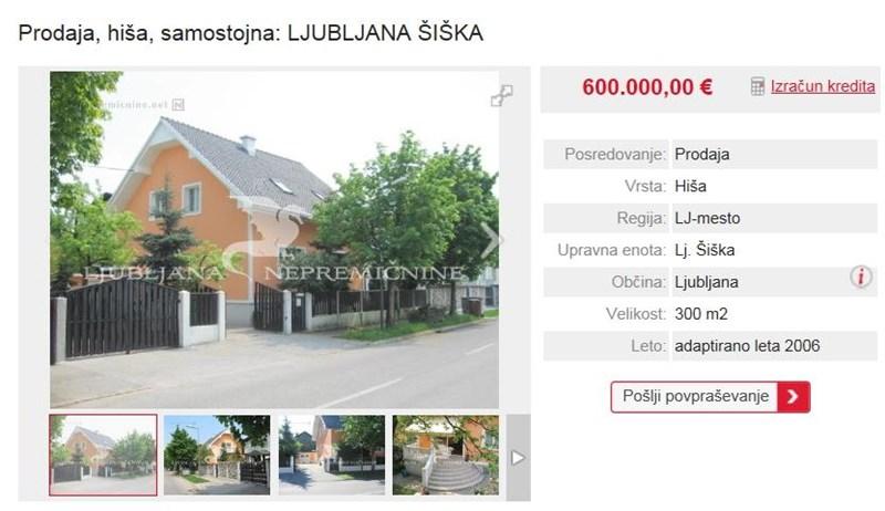 Prav tako v Šiški za 600 tisočakov prodajajo neopremljeno starejšo enostanovanjsko hišo, ki je bila prenovljena pred devetimi leti. V kleti premore savno.